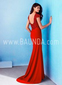 82461d1e305f1 Vestido rojo hermana de la novia Marfil 2018 modelo 2J100 espalda