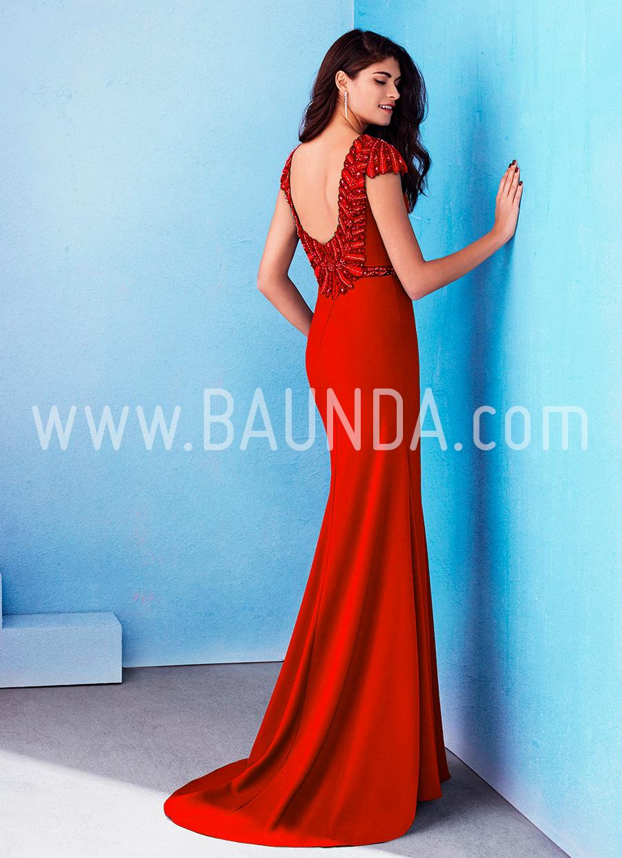 Baunda Vestido rojo hermana de la novia Marfil 2018 modelo 2J100 Madrid