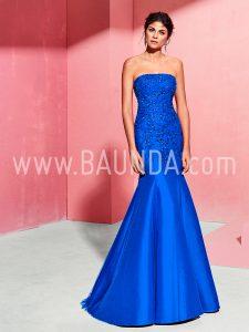 Vestido sirena Marfil 2018 modelo 2J1D8 azulón