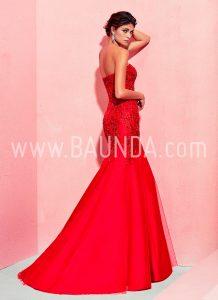 Vestido sirena Marfil 2018 modelo 2J1D8 rojo espalda