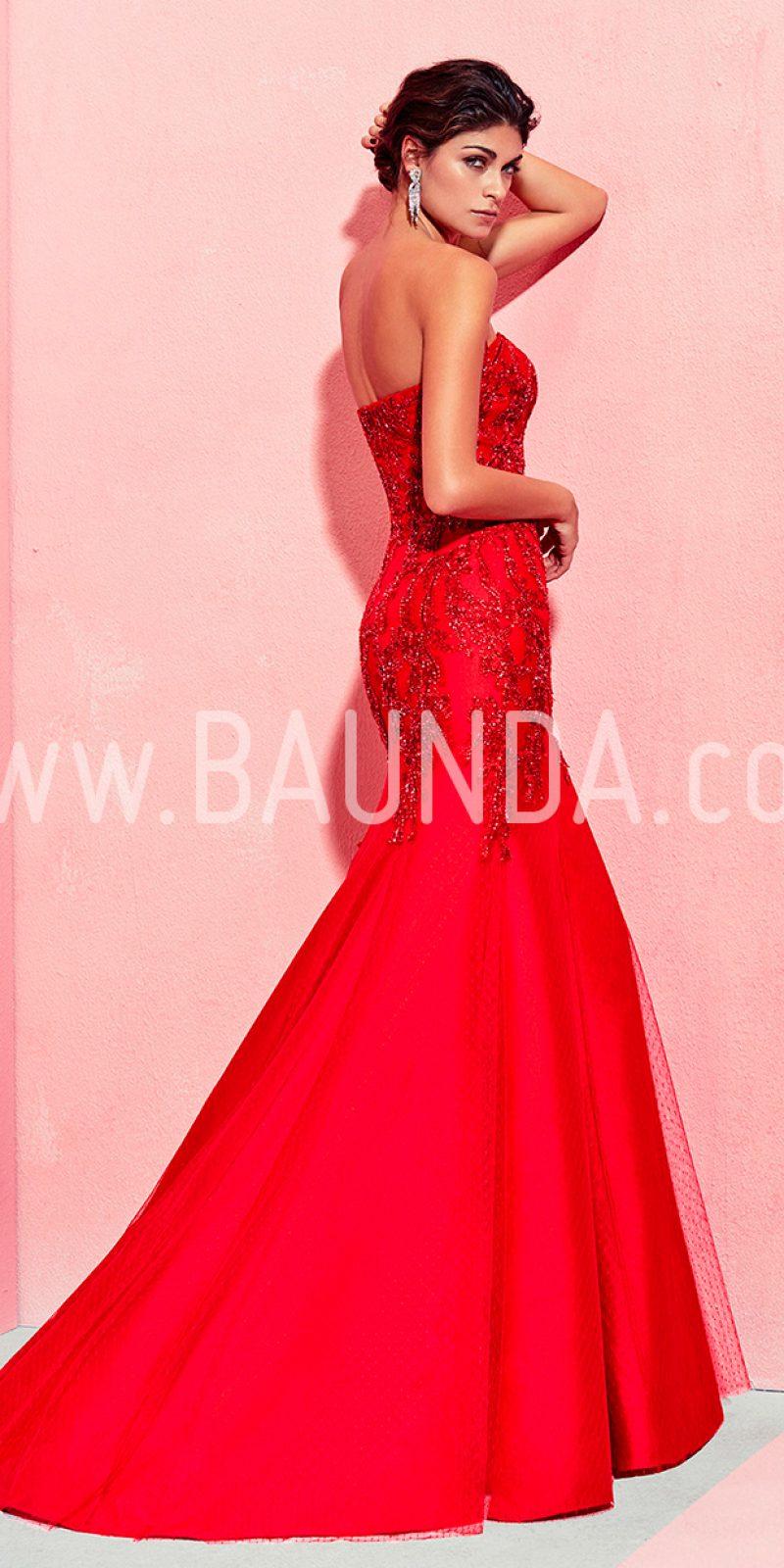 Baunda Vestido sirena Marfil 2018 modelo 2J1D8 rojo Baunda Madrid y ...