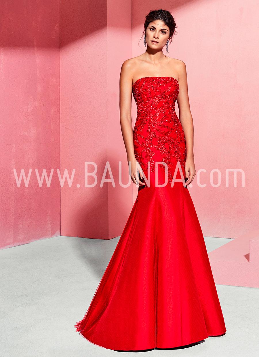 Encantador Vestido Rojo Invitado A La Boda Cresta - Colección del ...