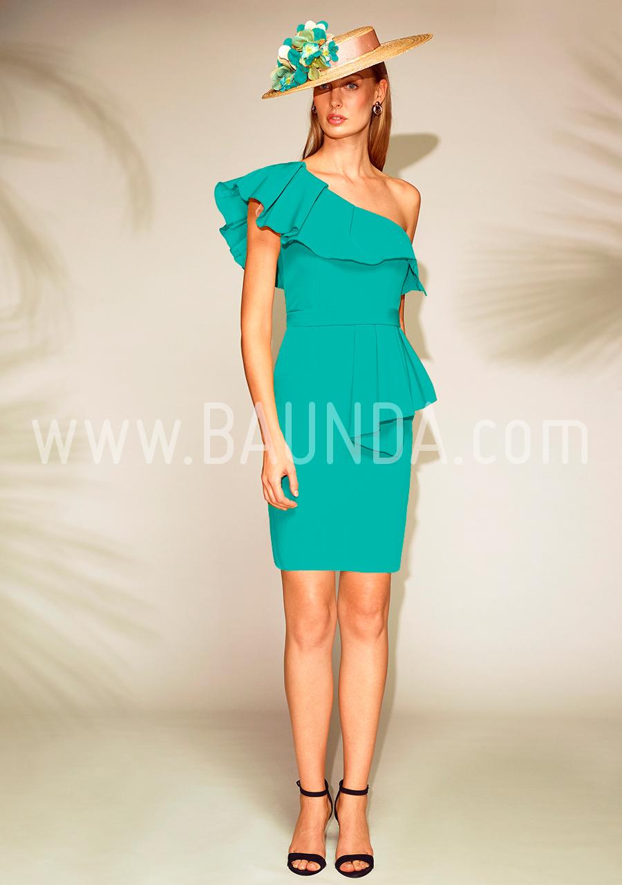 Baunda Vestido corto turquesa 2018 Baunda 1804 en Madrid y tienda online