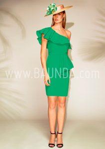 Vestido corto verde 2018 Baunda 1804