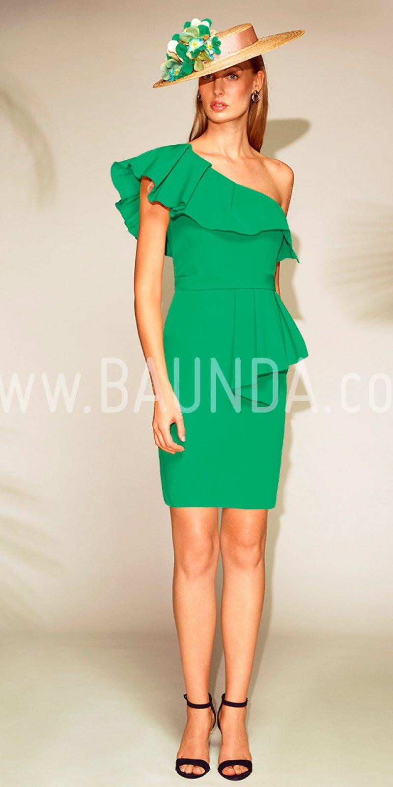 9c46209ad Baunda Vestido corto verde 2018 Baunda 1804 en Madrid y tienda online