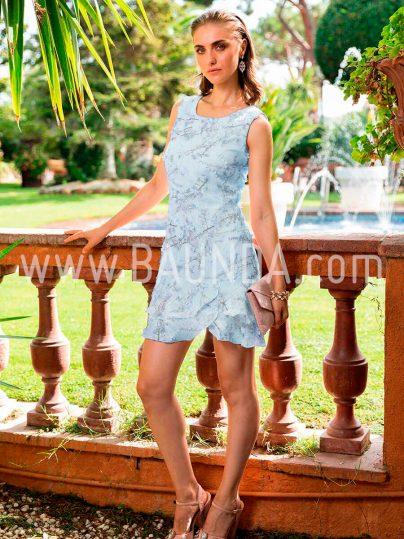 Vestido corto azul cielo 2018 Baunda 1808