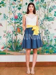 Vestido corto blanco y marino 2018 Baunda 1810