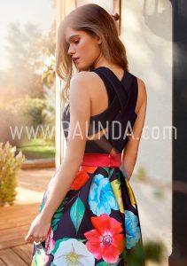Vestido espalda cruzada 2018 Baunda 1813