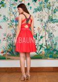 Vestido sencillo coral 2018 Baunda 1814 espalda