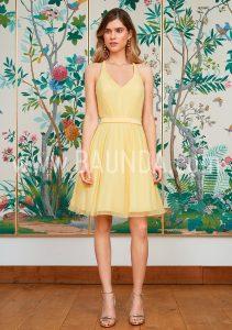 Vestido sencillo amarillo 2018 Baunda 1815