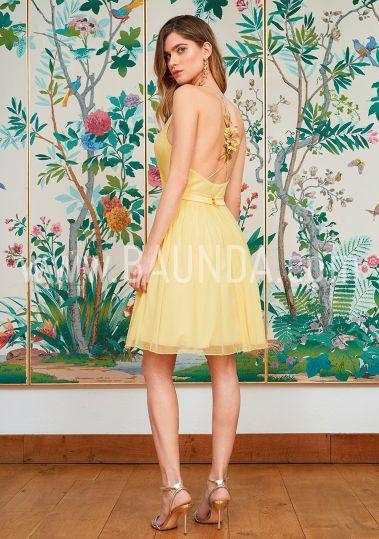 Vestido sencillo amarillo 2018 Baunda 1815 espalda