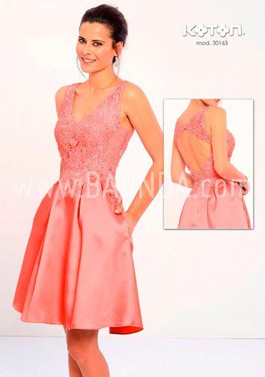 Vestido corto coral 2018 Koton 30163