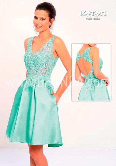 Vestido corto verde agua 2018 Koton 20163