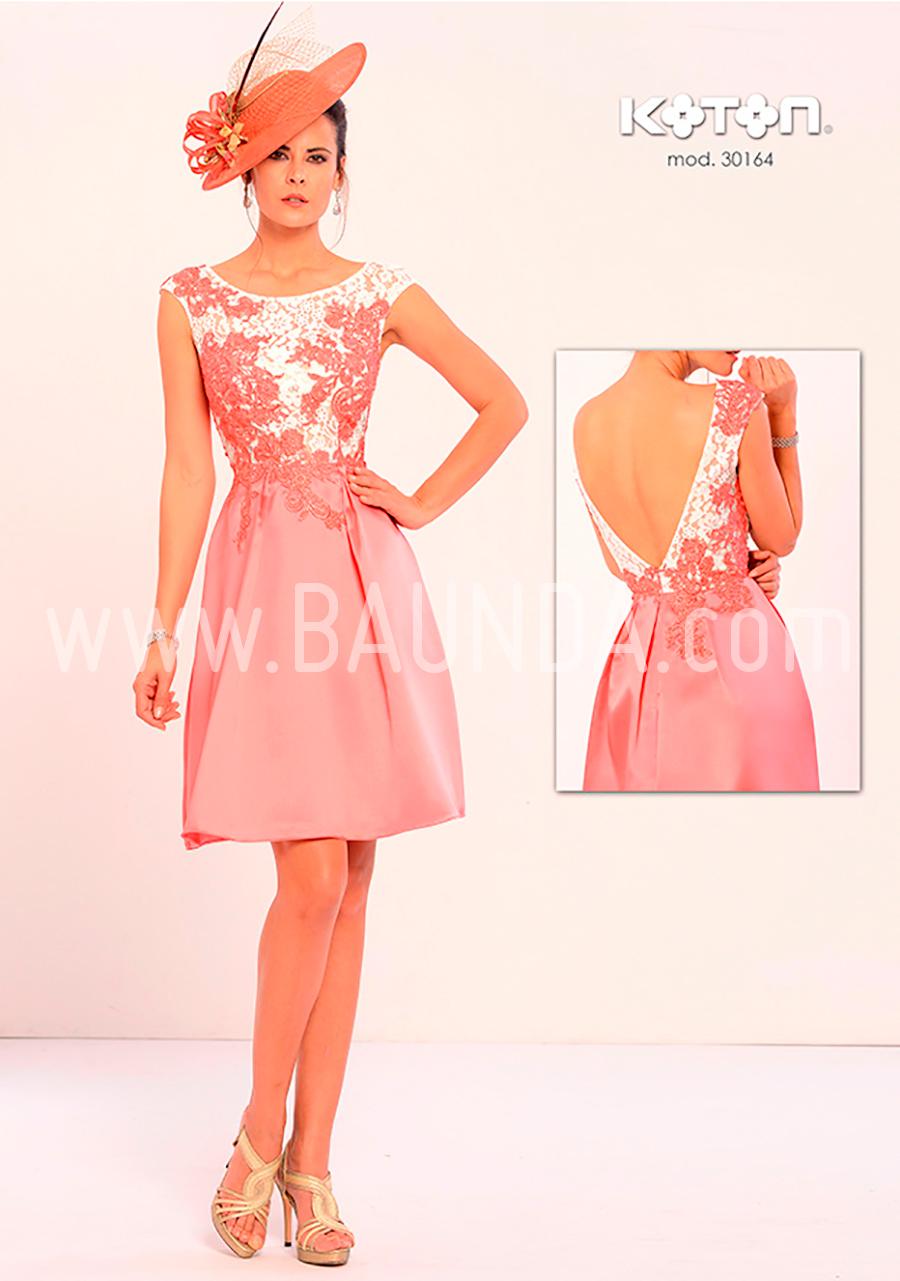 Baunda Vestido corto coral 2018 Koton 30164 Baunda Madrid y tienda ...