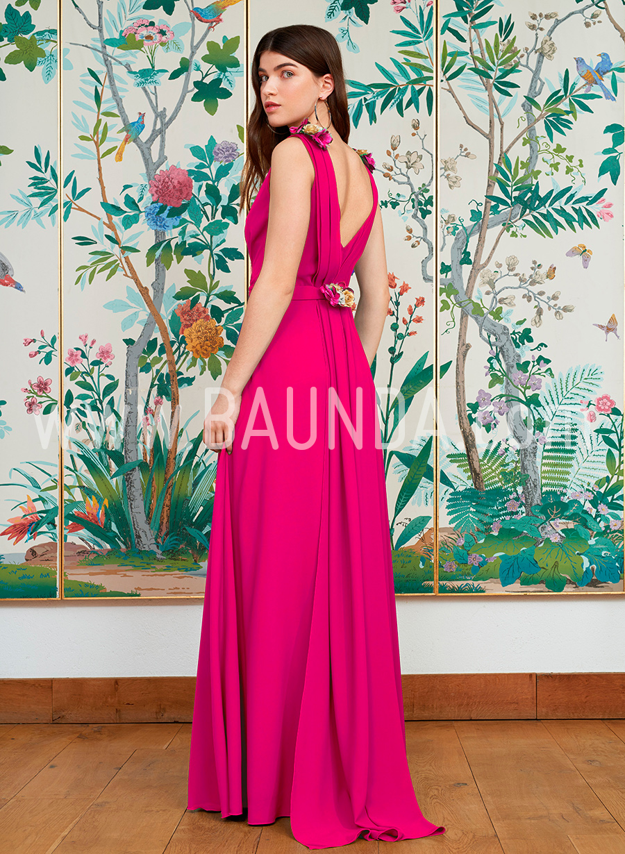 Baunda Vestido largo de boda fucsia Baunda 2018 modelo 1858 en ...