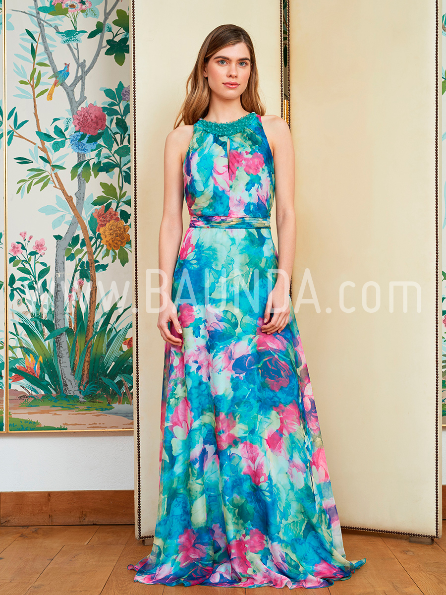 Modelos vestidos largos estampados