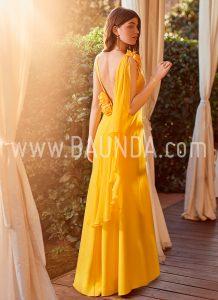 Vestido ajustado amarillo 2018 Baunda modelo 1874