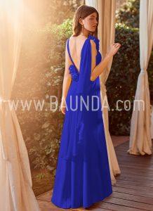 Vestido ajustado azulón 2018 Baunda modelo 1875