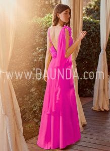 Vestido ajustado fucsia 2018 Baunda modelo 1876