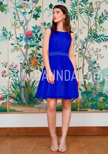 Vestido sencillo azulón 2018 Baunda 1817