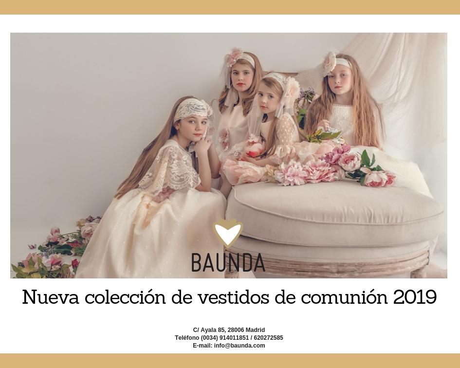 9430372d5 Baunda Nueva colección de vestidos niñas de comunión 2019