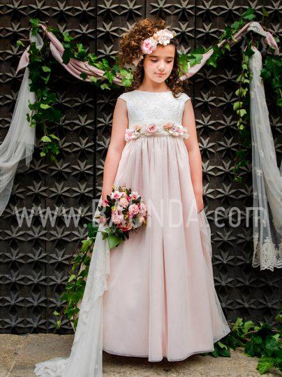 Outlet vestido de comunión con rosa Loida 2019 113