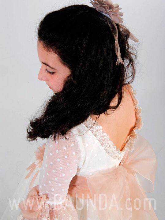 Vestido comunión Mamen 2019 modelo 1186 espalda