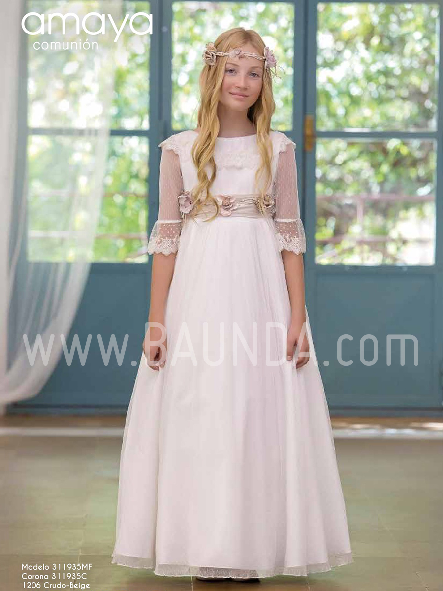 07a219981ec Baunda Vestido comunión 2019 Amaya modelo 935 Madrid y tienda online