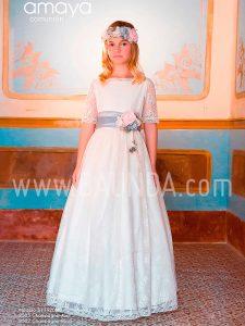 Vestido comunión con azul Amaya 2019 modelo 920 en Madrid