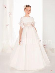 Vestido comunión cuello ondas 2019 Elisabeth modelo 418 en Madrid