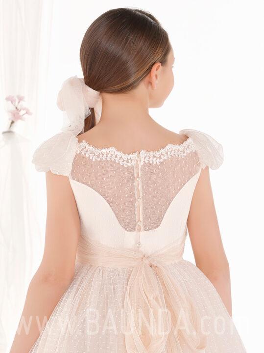 Vestido comunión princesa 2019 Elisabeth modelo 502 espalda