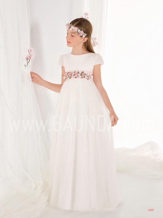 Vestido comunión corte imperio 2019 Elisabeth modelo 609 en Madrid