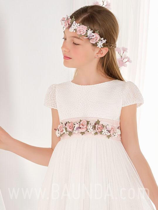 Vestido comunión corte imperio 2019 Elisabeth modelo 609 cuerpo