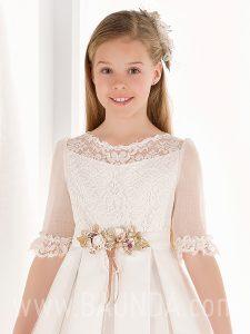 Vestido comunión espalda encaje Elisabeth 2019 modelo 807 cuerpo