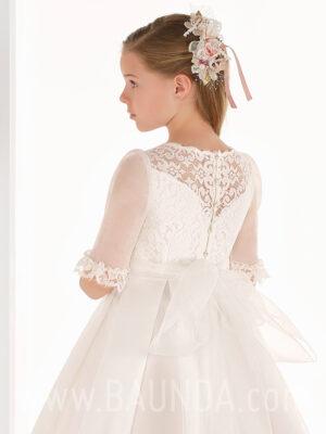 Vestido comunión espalda encaje Elisabeth 2019 modelo 807 espalda