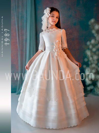 Vestido comunión Hannibal Laguna 2019 modelo J304 en Madrid