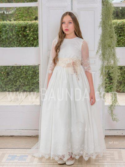 Vestido comunión Magnifica Lulú 2019 modelo 551 en Madrid