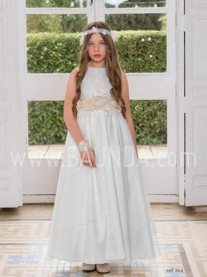 Vestido comunión tul Magnífica Lulú 2019 modelo 564 en Madrid