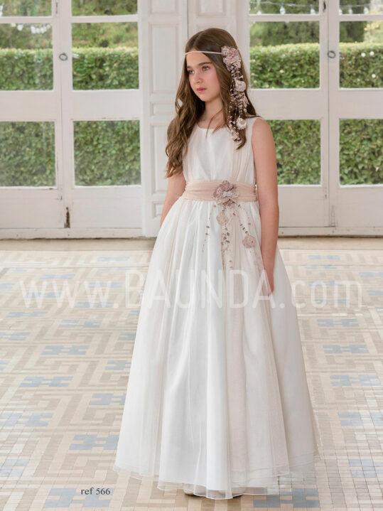 Vestido comunión tul rosa Magnífica Lulú 2019 modelo 566 en Madrid