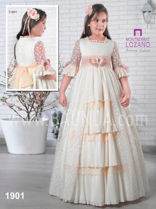 Vestido comunión Montserrat Lozano 2019 modelo 1901 en Madrid