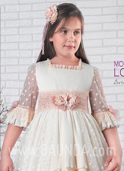 Vestido comunión Montserrat Lozano 2019 modelo 1901 cuerpo