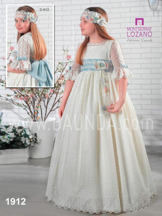 Vestido comunión artesanía Montserrat Lozano 2019 modelo 1912 en Madrid