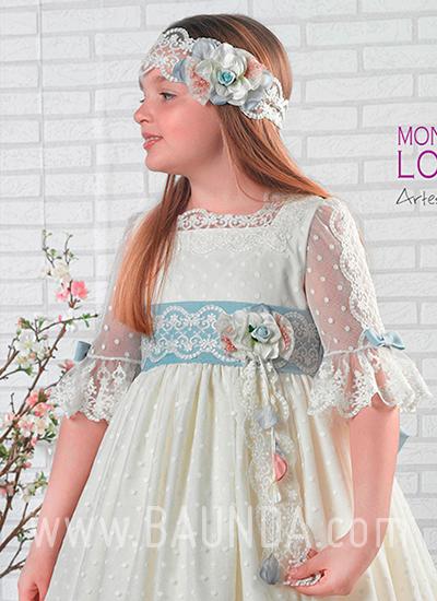 Vestido comunión artesanía Montserrat Lozano 2019 modelo 1912 cuerpo en Madrid
