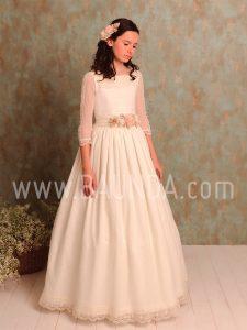 Vestido comunión espalda abierta Quinper 2019 modelo 1015 en Madrid
