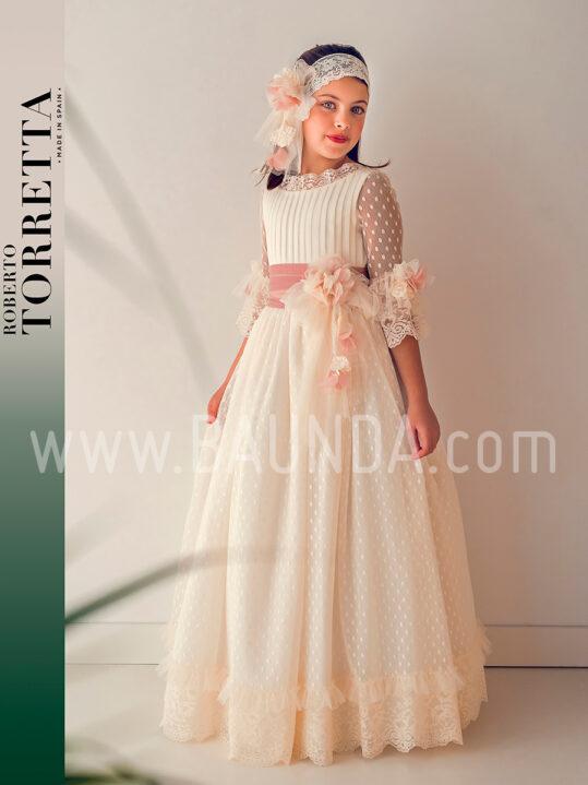 Vestido comunión diseñador Roberto Torretta 2019 modelo J402 en Madrid