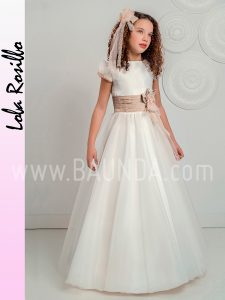 Vestido comunión falda capa Lola Rosillo 2019 modelo Q233 en Madrid