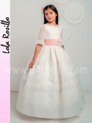 Vestido de comunión clásico Lola Rosillo 2019 modelo Q247 en Madrid
