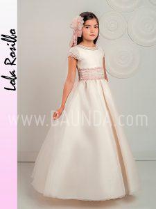 Vestido comunión falda lisa Lola Rosillo 2019 modelo Q269 en Madrid
