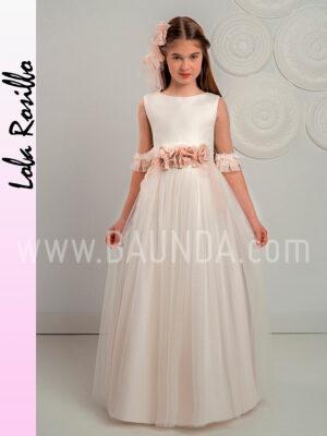 Vestido comunión sin volumen Lola Rosillo 2019 modelo Q321 en Madrid