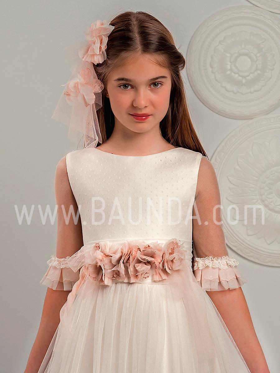 Vestido comunión sin volumen Lola Rosillo 2019 modelo Q321 cuerpo en Madrid